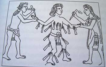 Mesoamerican piercing punishment
